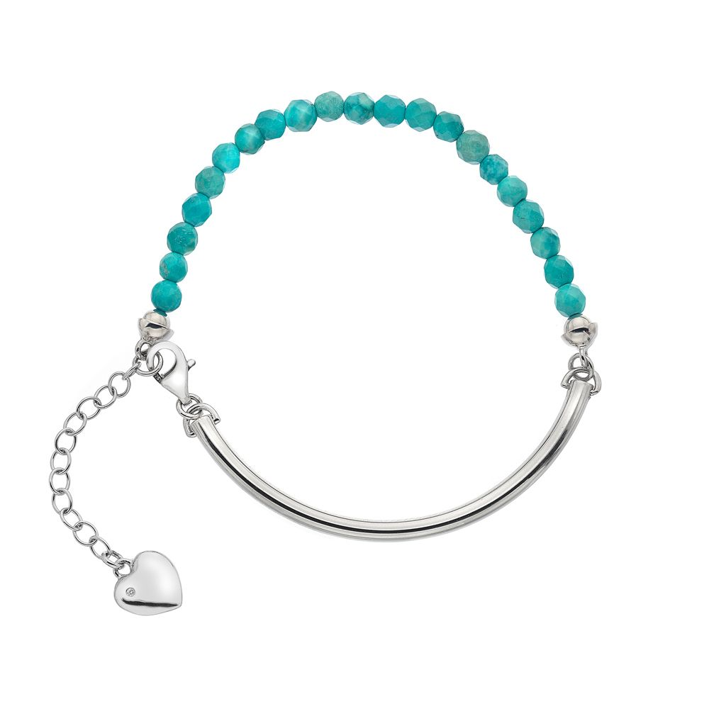 hot diamonds silver and turquoise bracelet