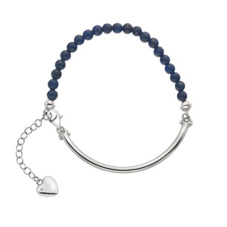 Hot Diamonds Silver & navy bracelet