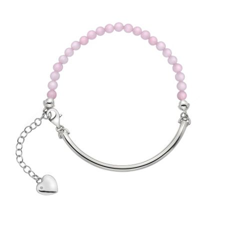 Hot Diamonds Silver & pink bracelet