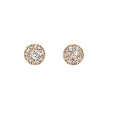 Emozioni rose gold plated stud earrings