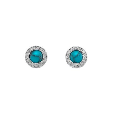 Emozioni silver turquoise stud earrings