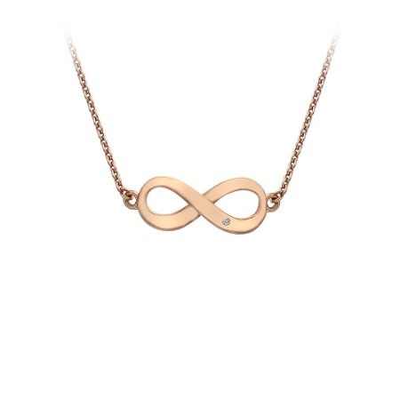 Hot Diamonds Rose gold  infinty necklace