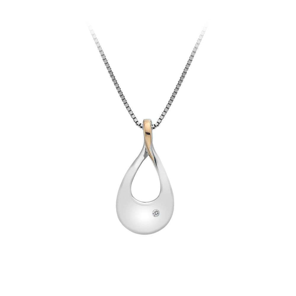 Hot Diamonds Silver teardrop necklace, N/A