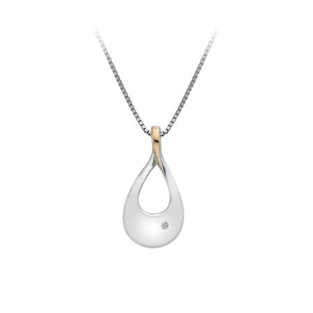 Hot Diamonds Silver teardrop necklace