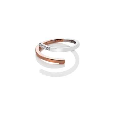 Hot Diamonds Two Tone Ring