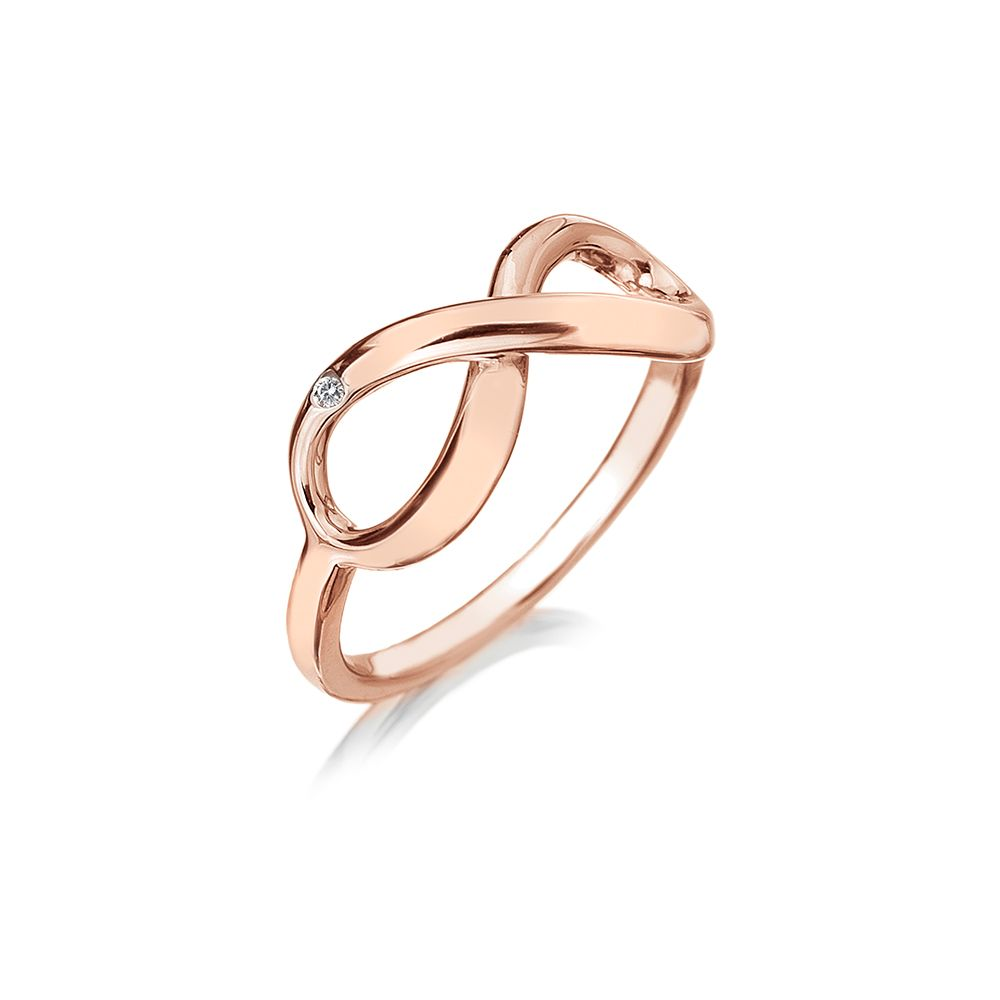 Hot Diamonds Rose gold infinity ring, Rose Gold