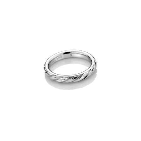 Hot Diamonds Silver Twist Ring