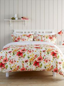Christy Poppy Duvet Cover Set