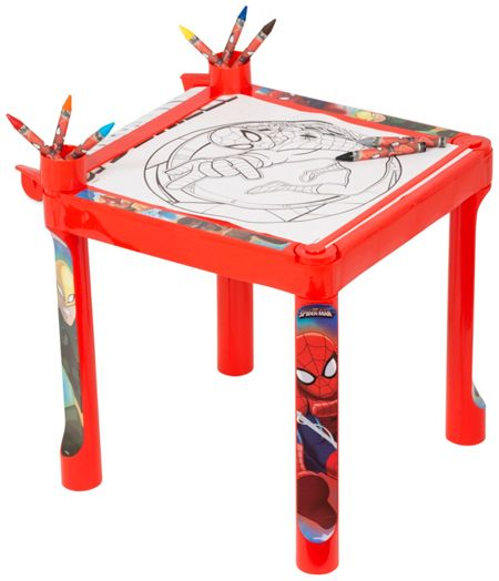 Spiderman Colouring Table