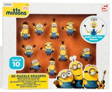 Minions Movie 3D Puzzle Eraser 10 pack
