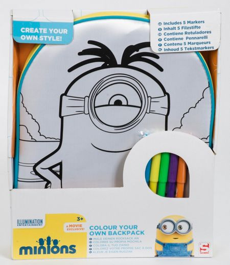 Minions Movie Colour Your Own Backpack