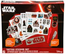 Star Wars The Force Awakens Tattoo Sticker Set