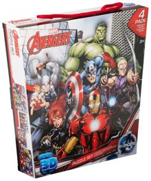 Marvel Avengers Puzzle 4 Pack