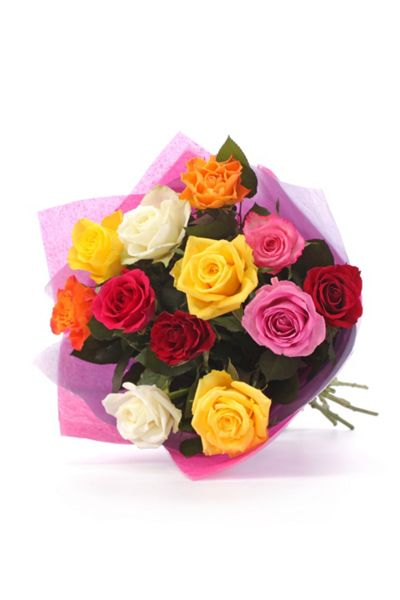 Floric Simply rainbow rose bouquet