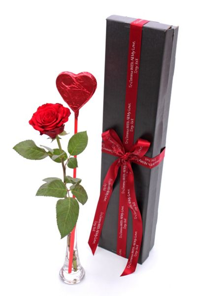 Floric Single rose & lollipop gift box