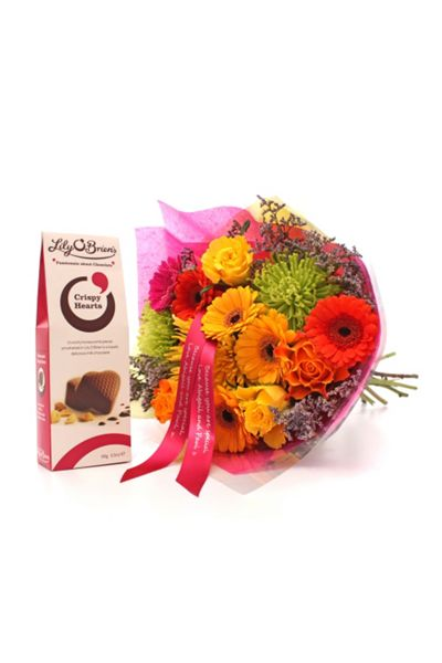 Floric Vivid bouquet & crispy heart chocolates