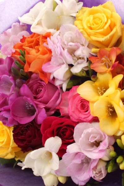 Floric Rose & freesia posy