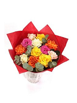 Colourful valentine rose bouquet