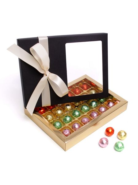 Floric Luxury chocolate truffles with ivory bow