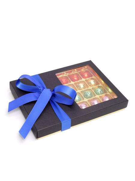 Floric Luxury chocolate truffles with dark blue bow
