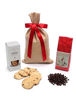 Coffee Beans & Biscuits Gift Sack