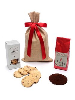 Ground Coffee & Biscuits Gift Sack