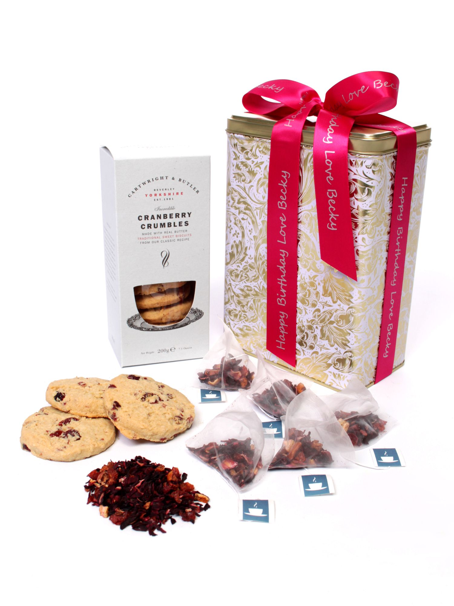 Floric Floric Red Berry Fruit Teas & Cranberry Crumble Biscuits