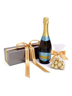 Personalised prosecco wine & chocolates