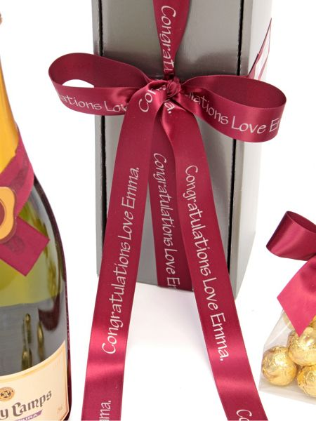 Floric Personalised brut cava & chocolate truffles gift