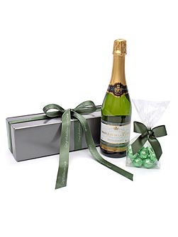 Personalised sparkling saumur & chocolate truffle