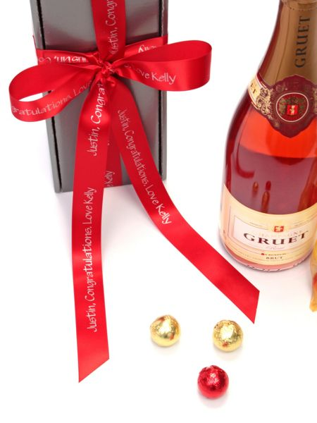 Floric Personalised gruet rosé champagne & chocolates