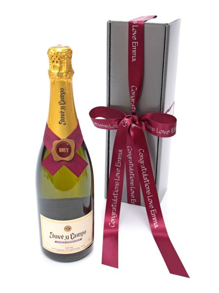 Floric Personalised cava brut wine gift box