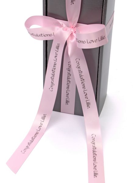 Floric Personalised rose pink cava rosé wine gift box