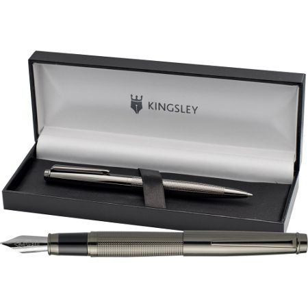 Kingsley Chequer gm fountain pen ball set