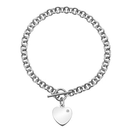 Hot Diamonds Lovelocked silver bracelet