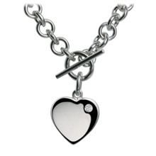 Hot Diamonds Lovelocked silver necklace