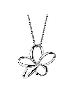 Paradise open flower necklace