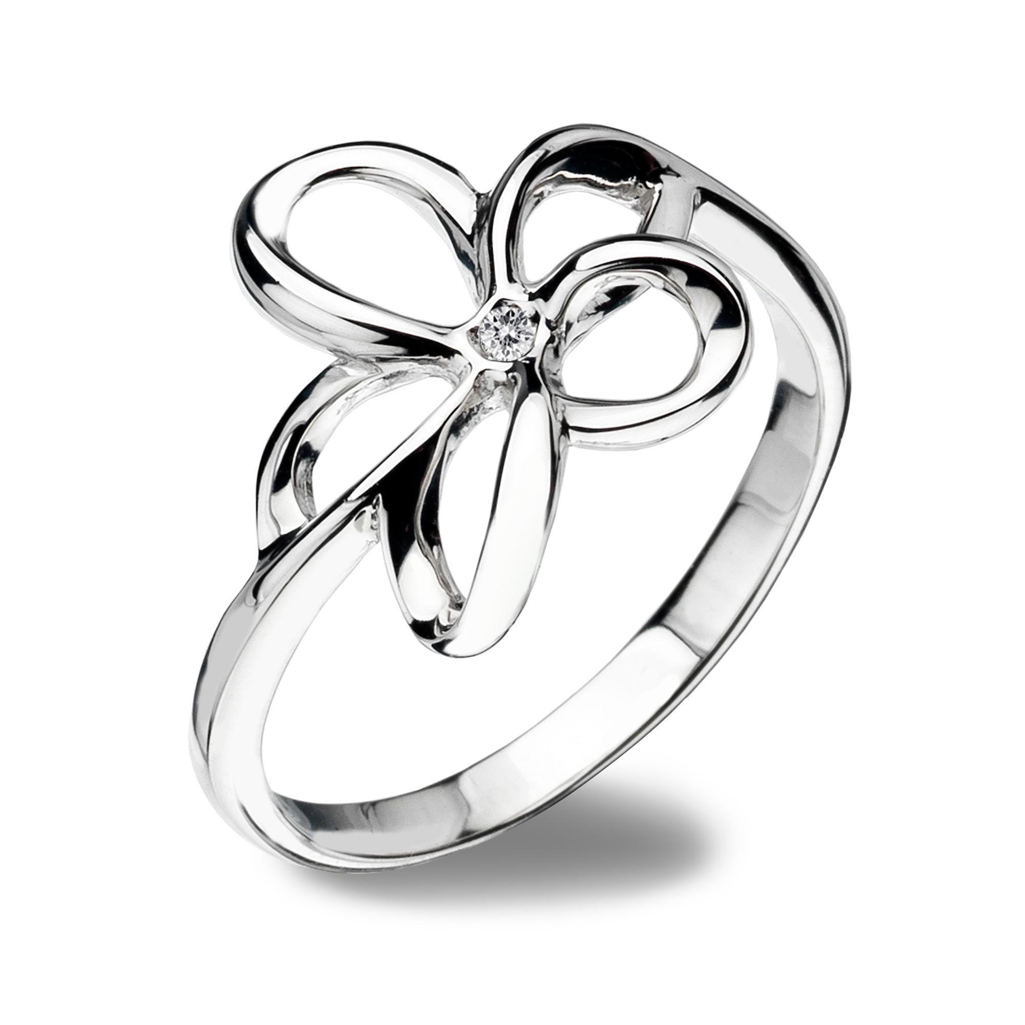 Hot Diamonds Paradise Flower Ring, Silver