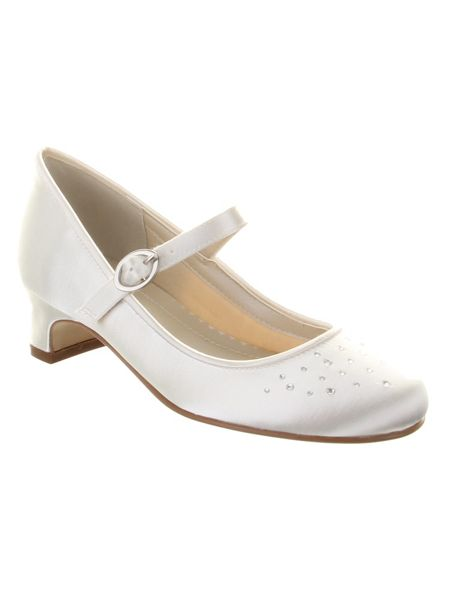 Rainbow Club Girls Verity crystal bar occasion shoe
