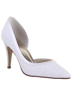 Esme shimmer court shoes