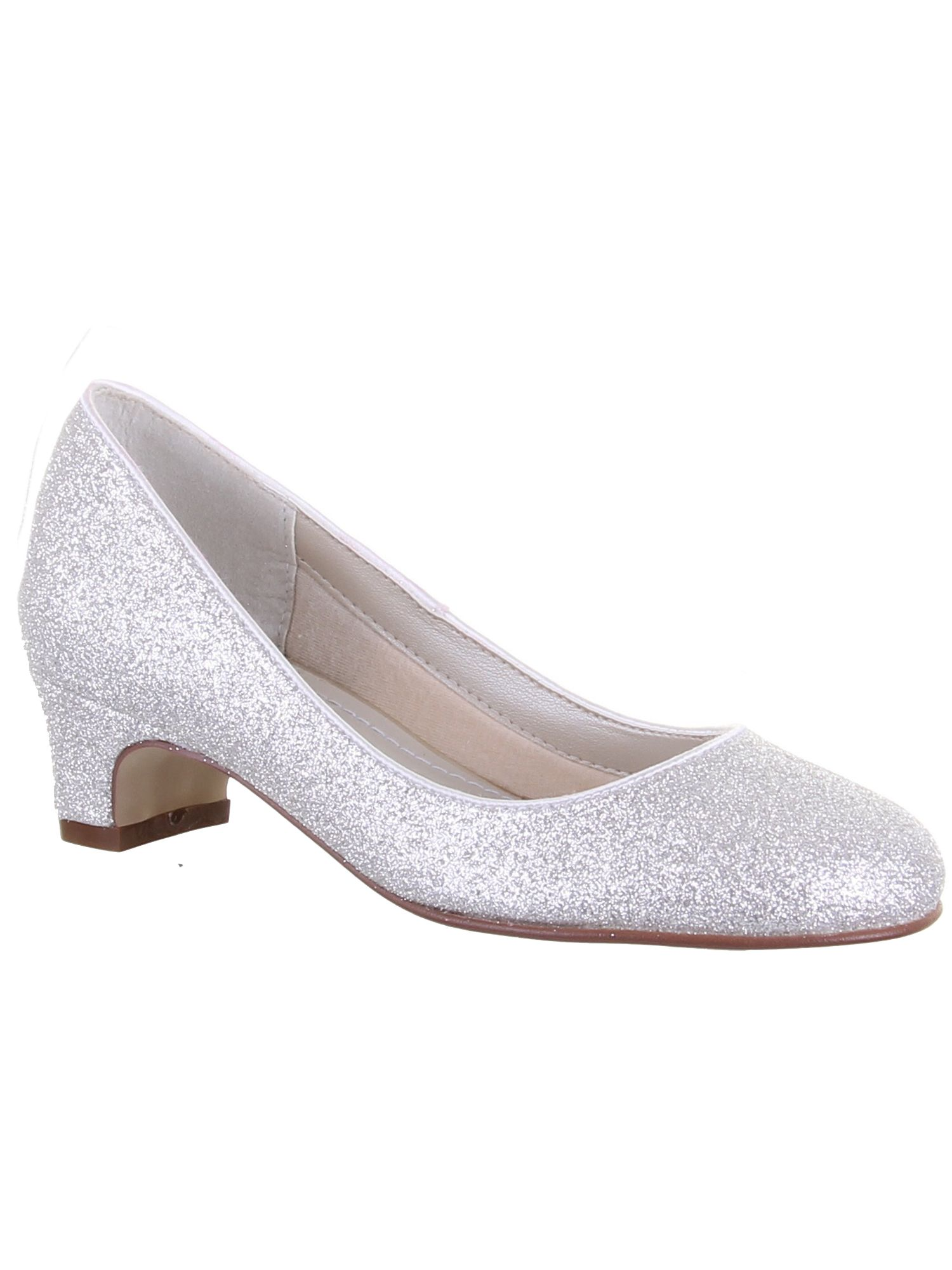 Girls Sasha shimmer pump occasion shoe