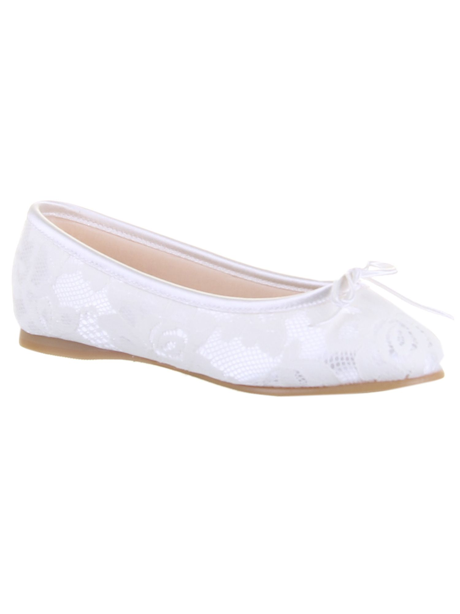 Girls Charlie fine lace pump occasion shoe