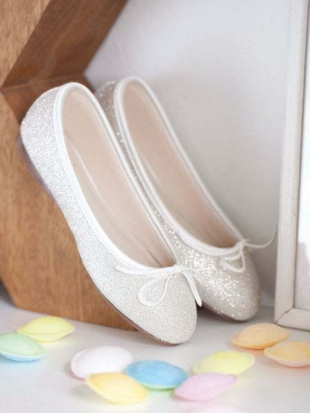 Girls Hessy shimmer pump occasion shoe