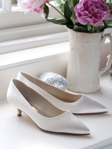 Rainbow Club April ivory satin pumps