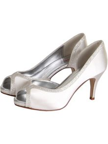 Carrie shimmering court shoes
