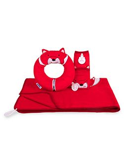 Kids snuggleset felix fox travel set