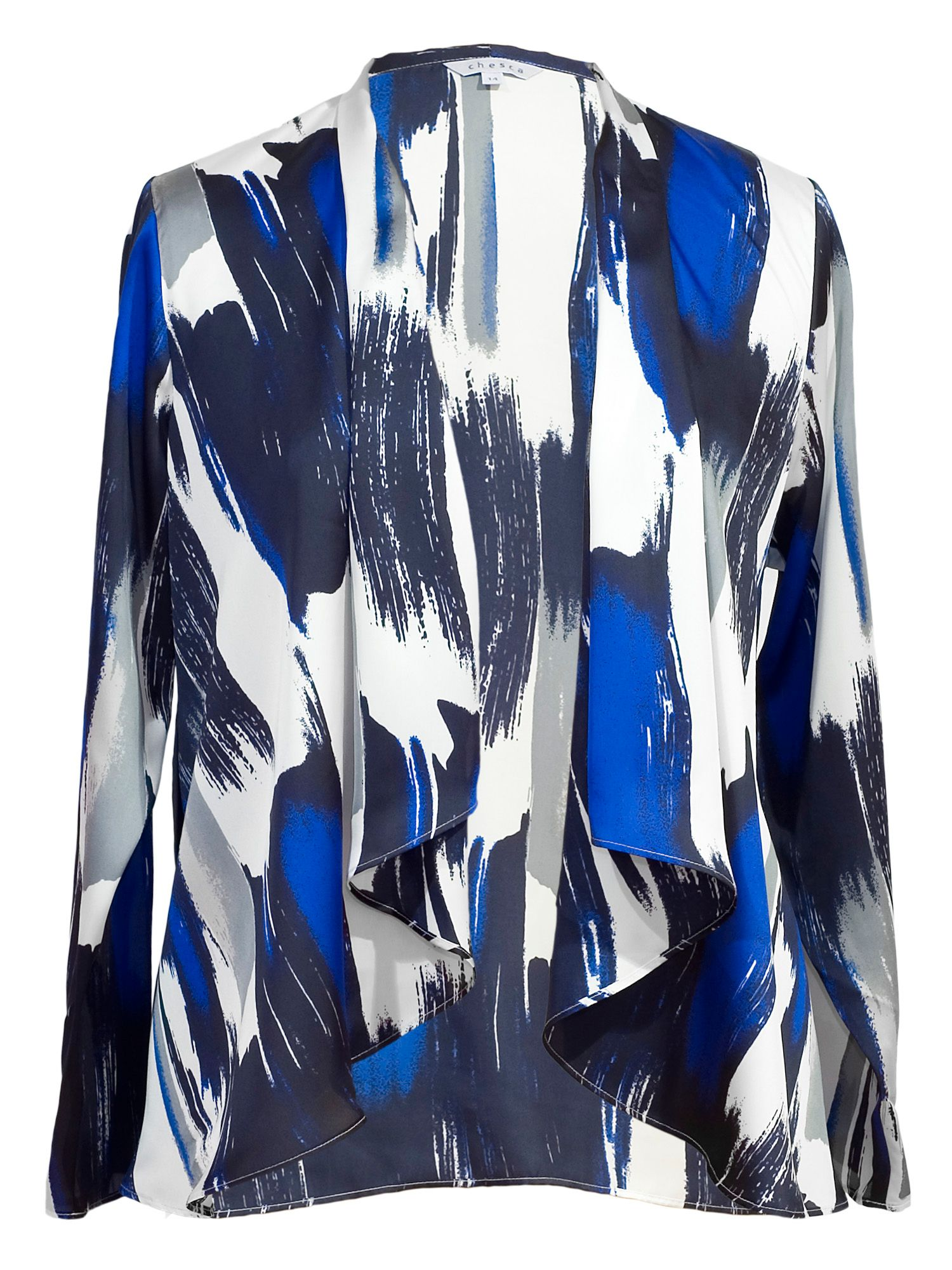 Brushstroke printed shrug