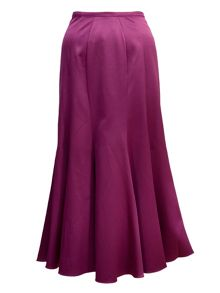 Chesca Full length flared satin skirt