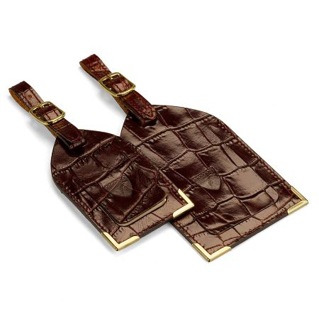 Aspinal of London Leather luggage tags