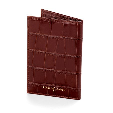 Aspinal of London Amazon Brown Double fold credit card case